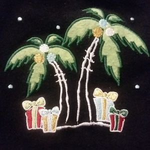 Holiday palm tree sweater